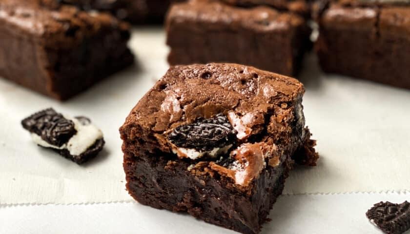 Homemade Fudgy Oreo Brownies