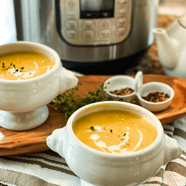 Instant Pot Butternut Squash Soup Recipe