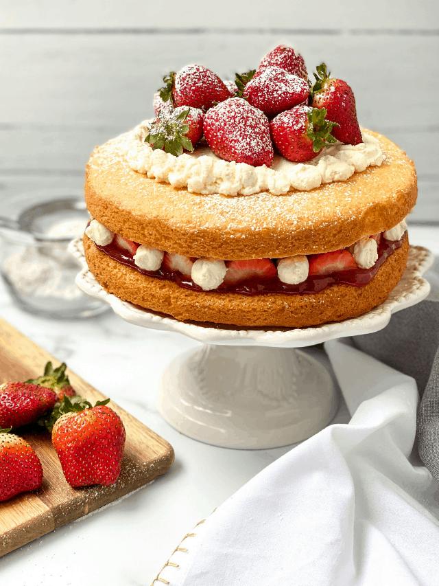 Easy Victoria Sponge Cake Recipe for Tea