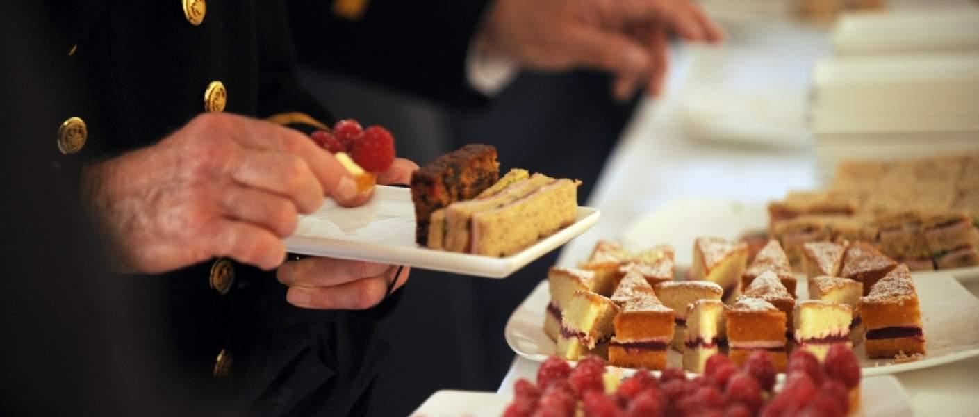 Royal Victoria Sponge Cakes served at Buckingham Palace