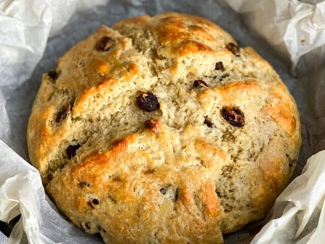 Irish Soda Bread Recipe with Raisins and Buttermilk