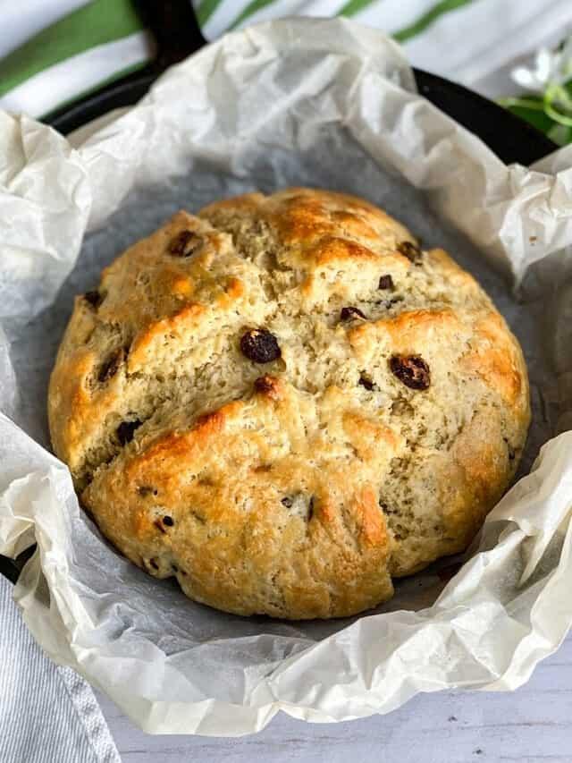 Irish Soda Bread Recipe with Raisins and Buttermilk