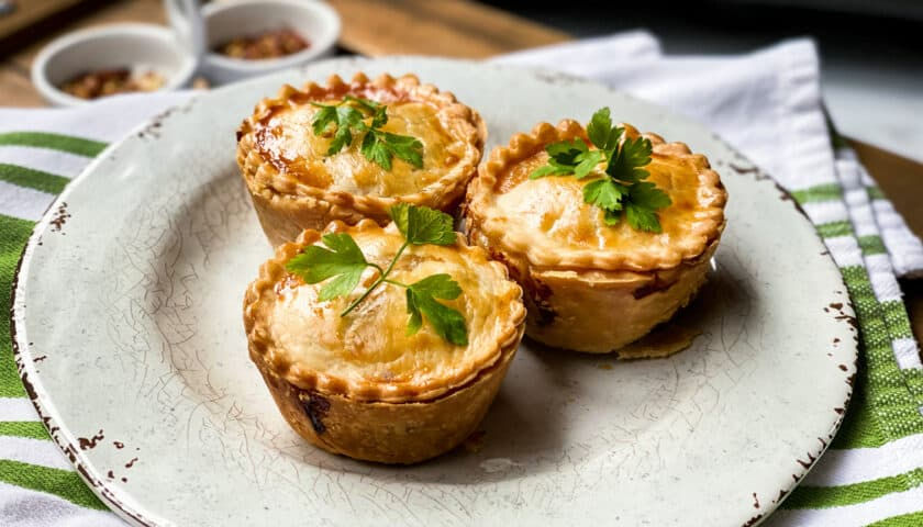 Pub-Style Beef Pot Pies in Muffin Tins
