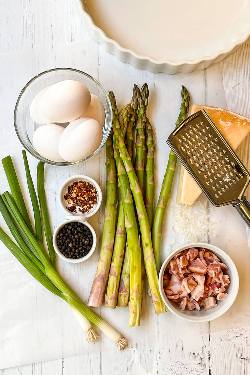 Ingredients for Asparagus Quiche