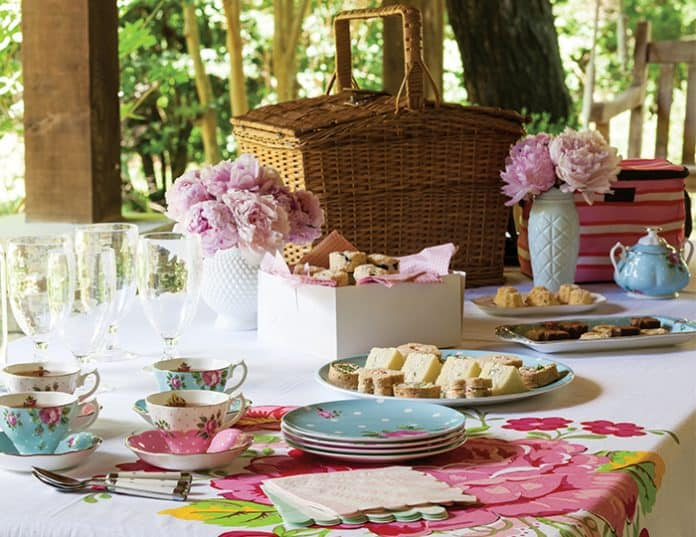 A picnic afternoon tea