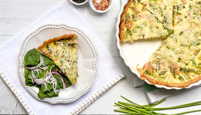 Easy Asparagus Quiche Recipe