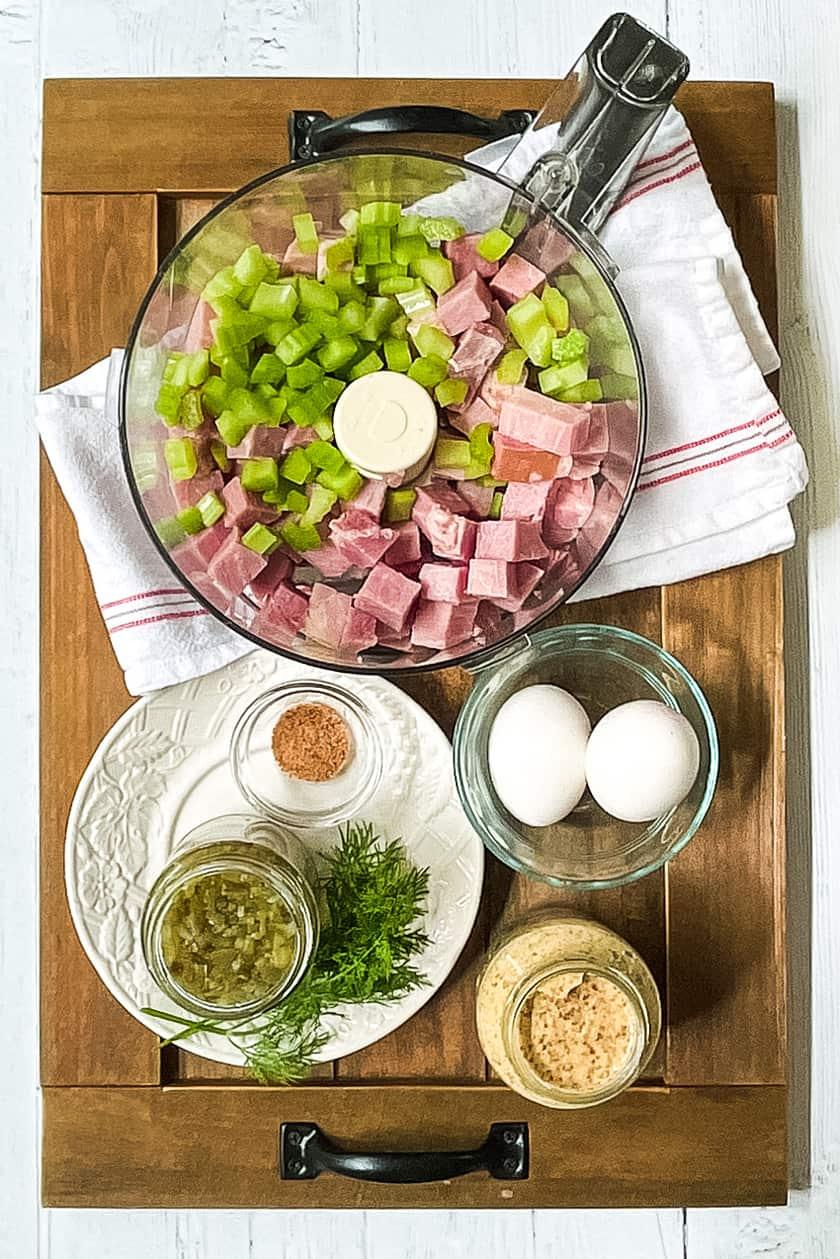 Ingredients for Ham Salad