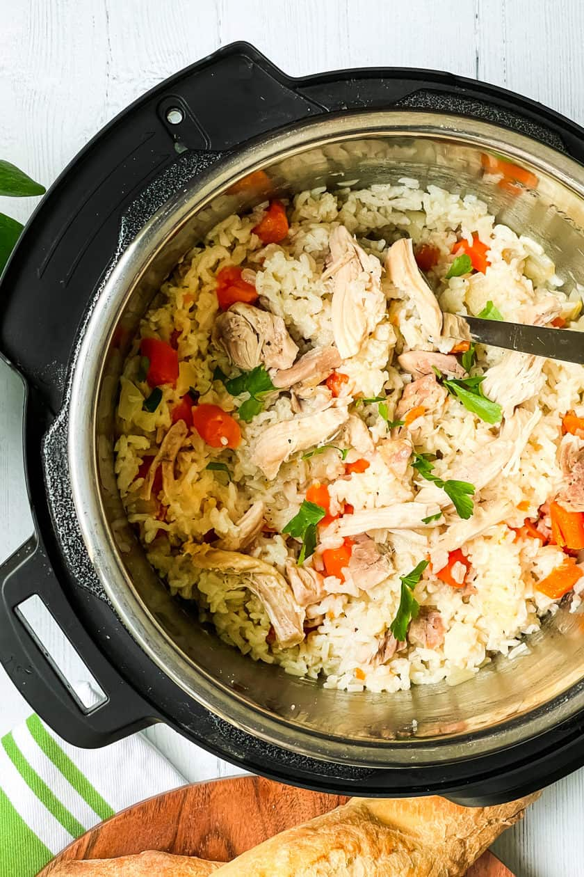 Chicken and Rice recipe in the Instant Pot