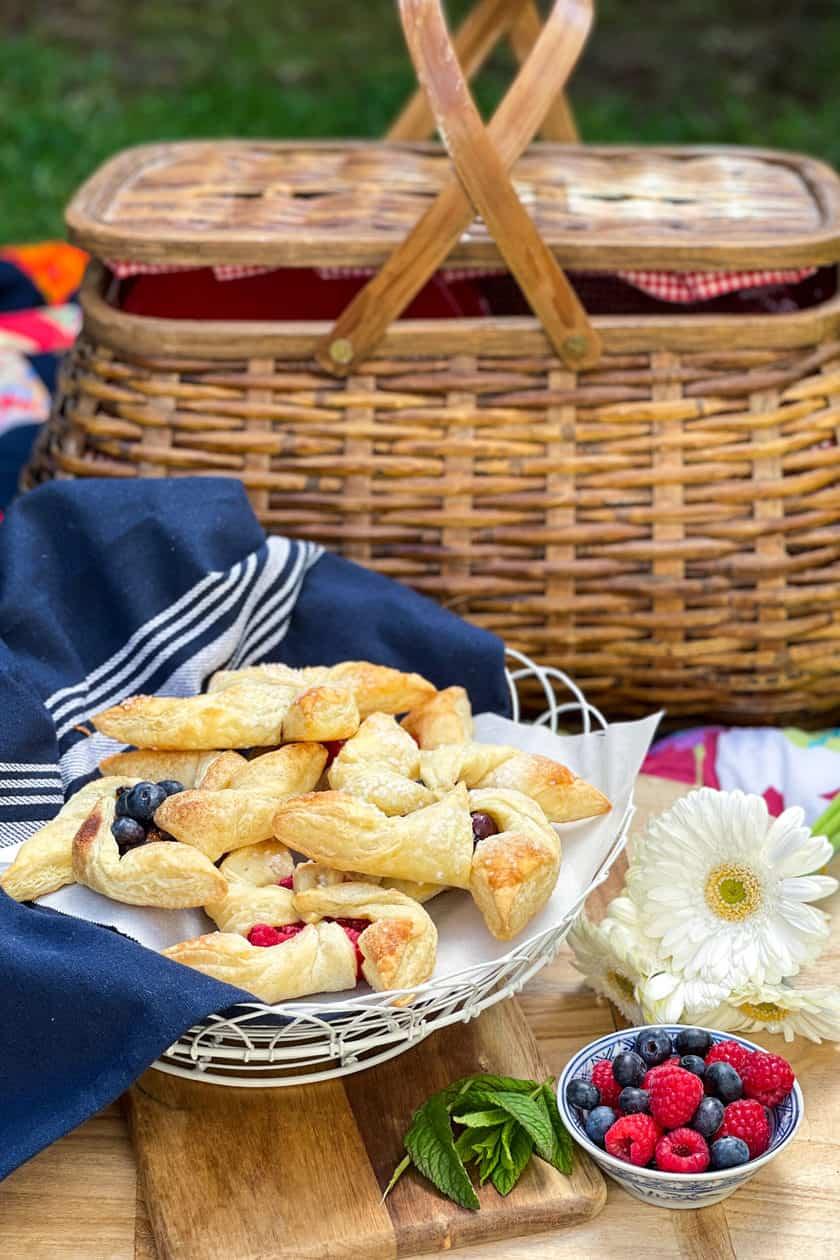 Pinwheel Pastries at an outdoor picnic