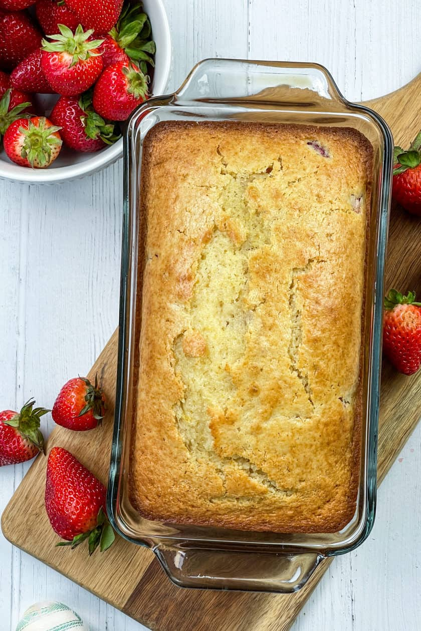 Strawberry Bread, unglazed, fresh from the oven.