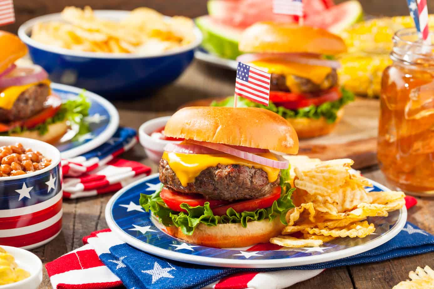 Easy Memorial Day Recipes with burgers, beans, salads, desserts and more.