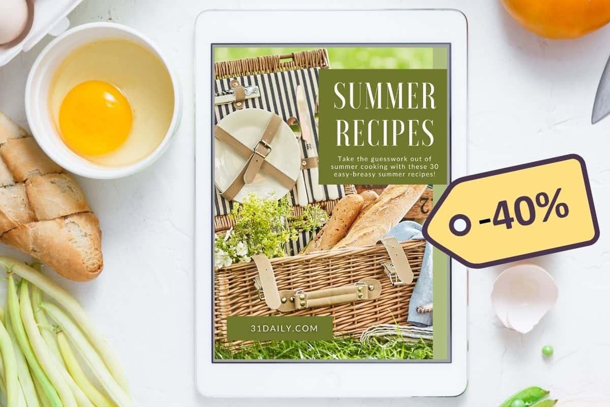 Summer Recipes EBook 40% Discount!