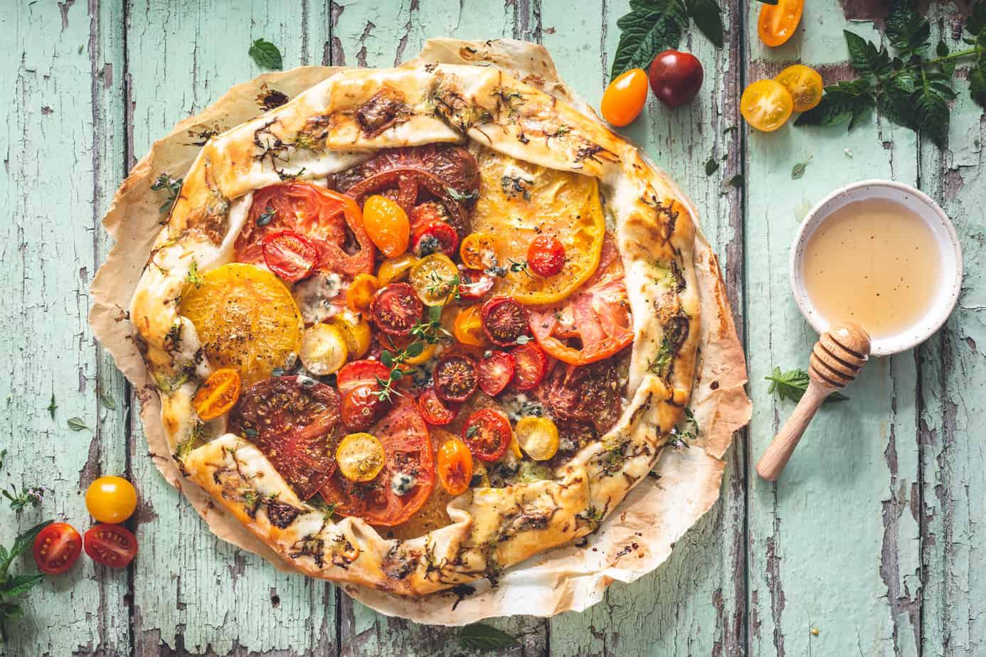 Whole Heirloom Tomato Tart