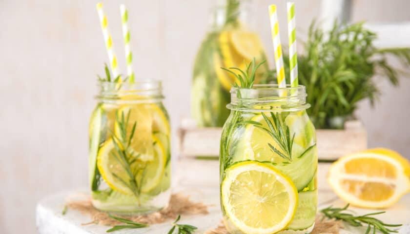 Herb Lemon Water: Refreshingly Simple Summer Drink