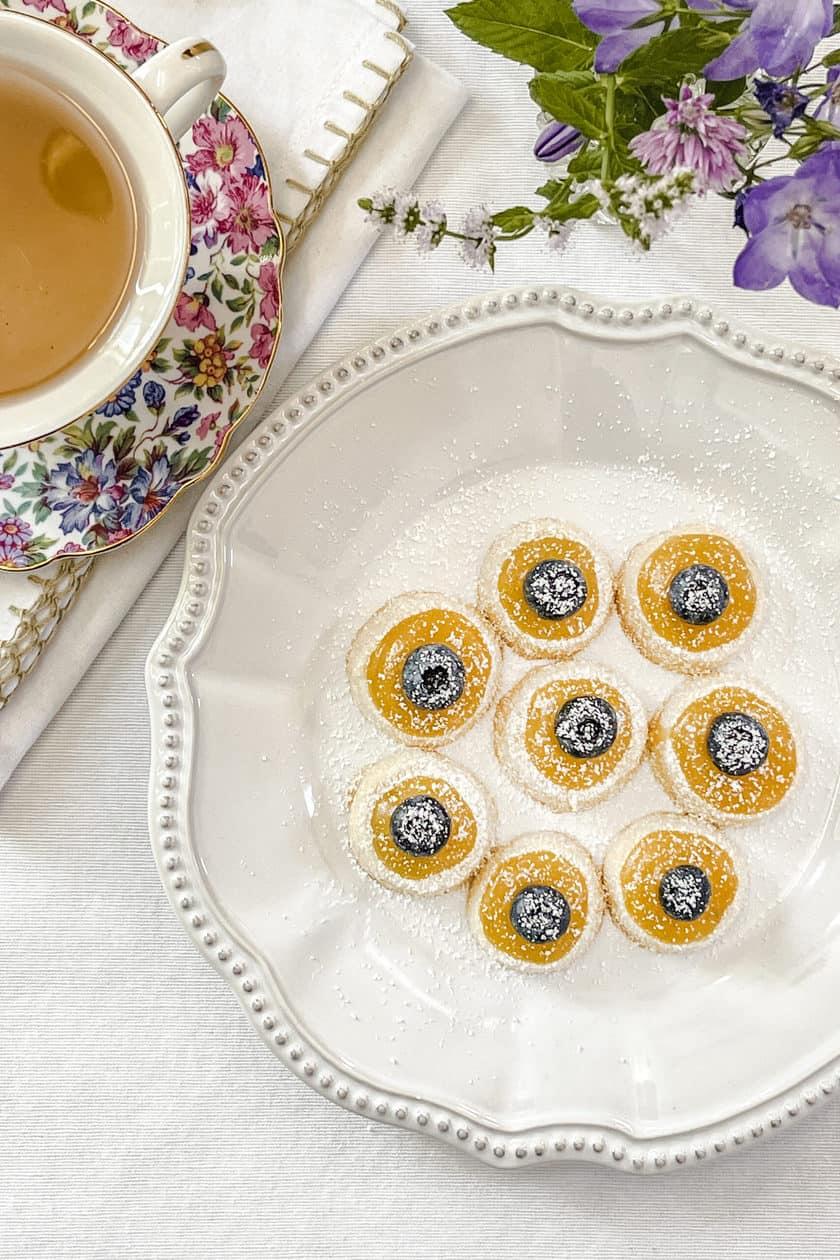 Top view of Shortbread Tea Cookies
