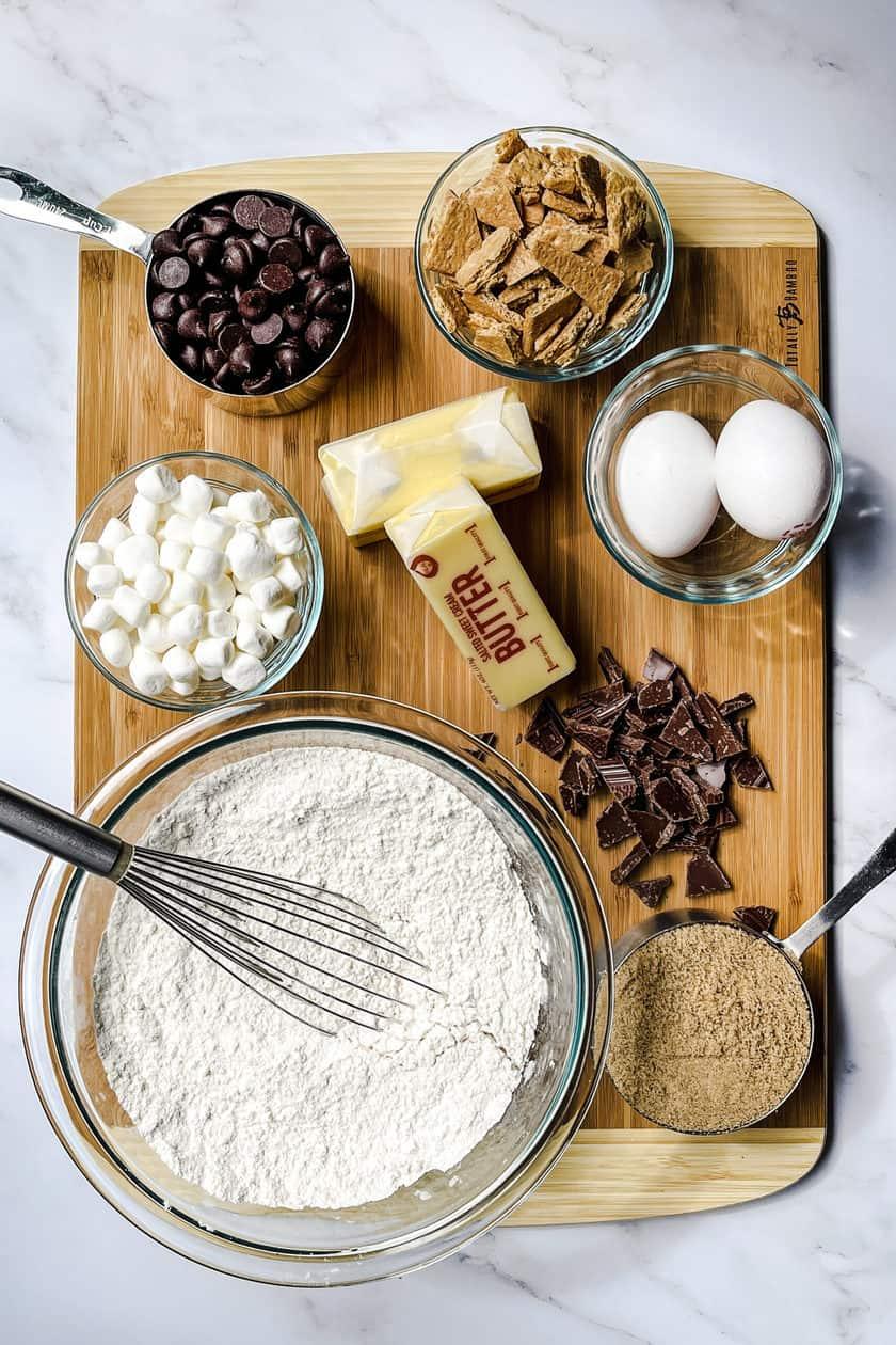 S'mores Cookies Ingredients