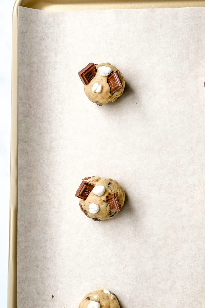 Rolled S'mores Cookie dough
