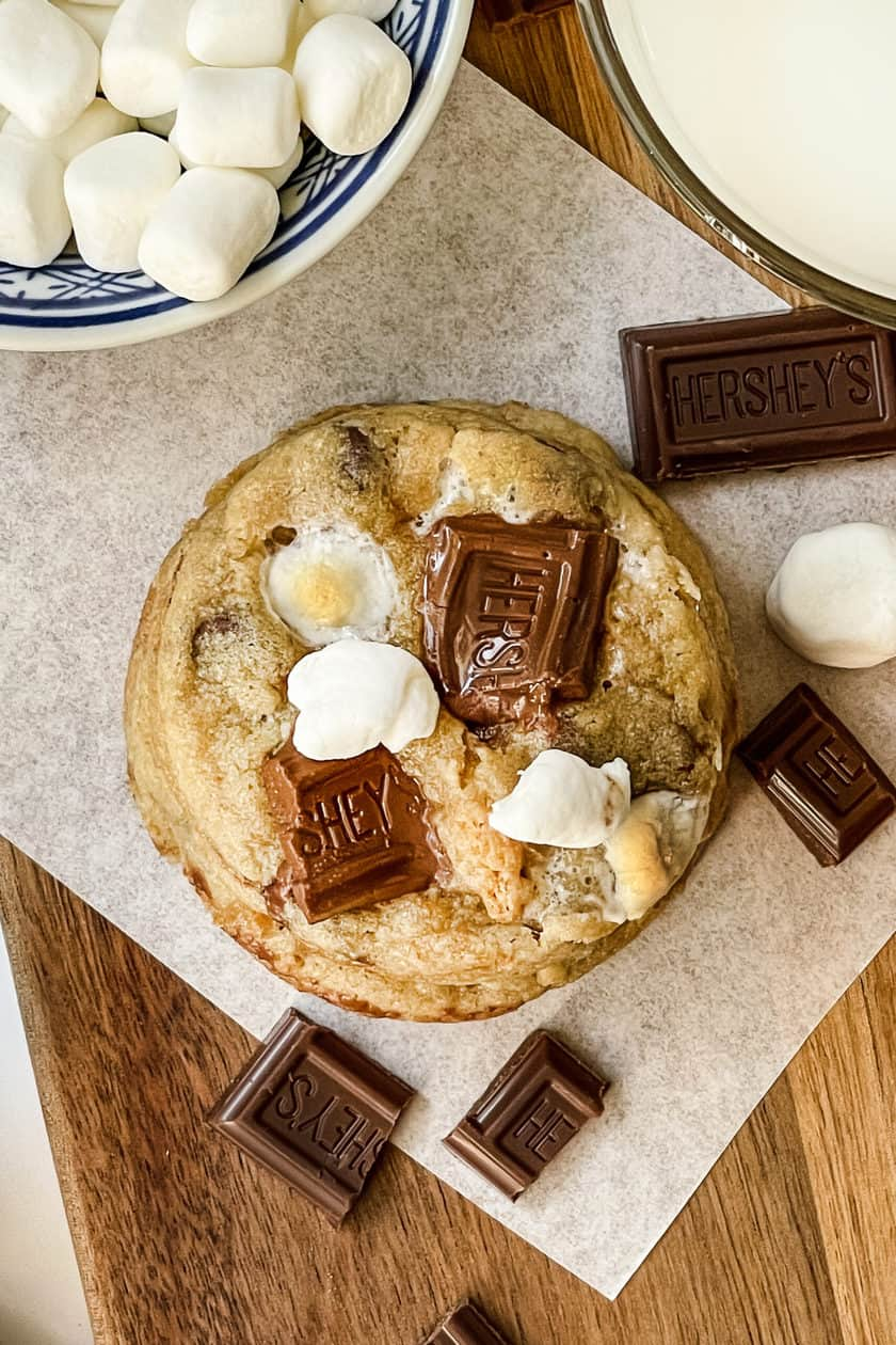 Top view of S'mores Cookie