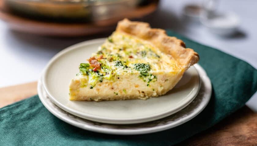 Easy Broccoli Cheddar Quiche Recipe