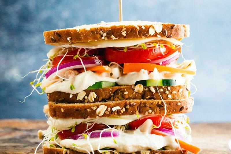 Easy Lunch Ideas Hummus Sandwich